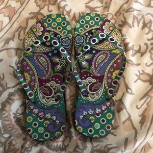 Vera Bradley flip flops